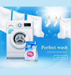 laundry detergent advertising background vector image