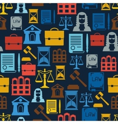 Law icons seamless pattern in flat design style vector image