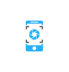 lens mobile logo icon design vector image