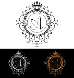 Letter A Luxury Logo template flourishes vector
