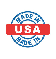 Made in usa emblem flat vector