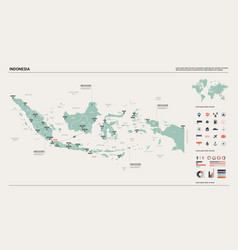 map indonesia high detailed country map vector image