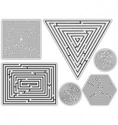 Mazes collection vector