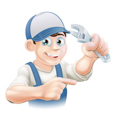 mechanic or plumber vector image