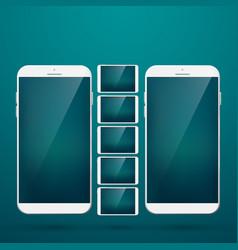 modern design concept smartphone set vector image