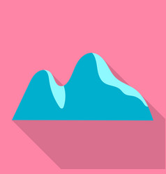 mountain hill icon flat style vector image
