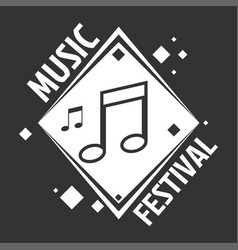 music festival labels musical notes vector image