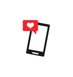 online dating icon design template isolated vector image