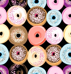 pattern delicious donuts vector image