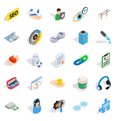 physician icons set isometric style vector image