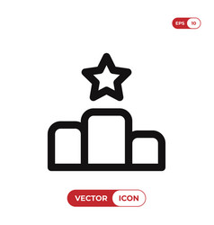 podium icon vector image