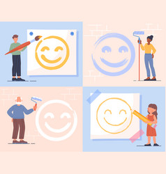 positive thinking concept vector image