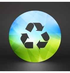 Recycle sign Ecology icon vector image vector image