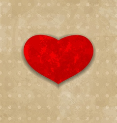 Red grunge heart for valentine day vector