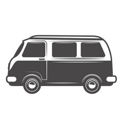 retro bus icon isolated on white background vector image