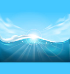 sea water and sky surface vector image