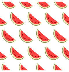 Seamless pattern with watermelon slices vector