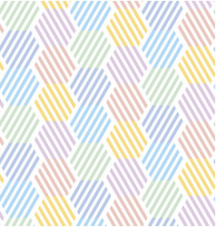 simple pale color geometric seamless pattern vector image