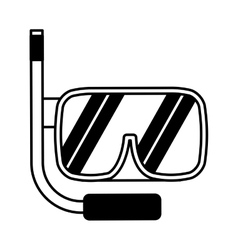 Snorkel device isolated icon vector