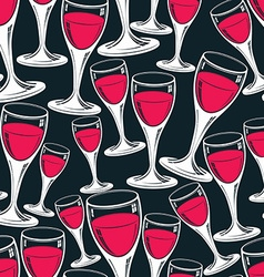 Sophisticated wine goblets continuous backdrop vector