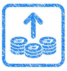 Spend dash coins framed stamp vector