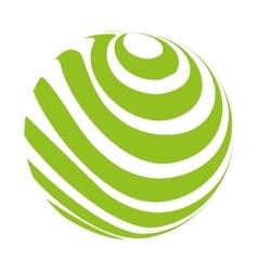 sphere circle emblem icon vector image