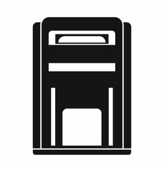 Square post box icon simple style vector image