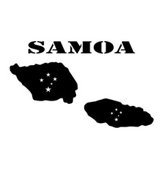 Symbol of isle of samoa and map vector