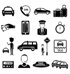 Taxi service icons set vector