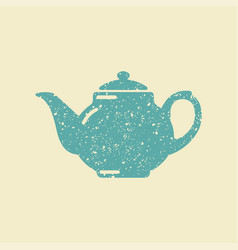 teapot icon tea symbol vector image