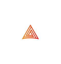 triangle line business technology logo vector image