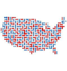 usa abstract map vector image