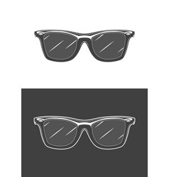 vintage monochrome detailed sunglasses vector image