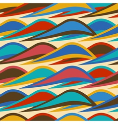 Vintage seamless pattern with colorful waves vector