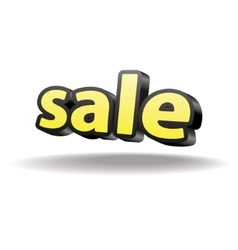 Volumetric letters sale Isolated Black and yellow vector