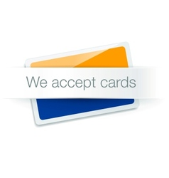 We accept cards - credit card isolated on white vector