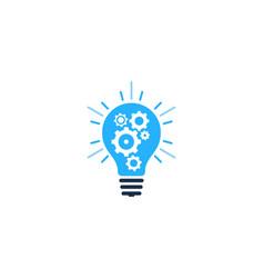 wheel idea logo icon design vector image