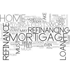 When can i refinance my home text word cloud vector
