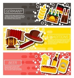 Germany panorama scenery banners concept vector