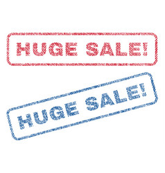 huge sale exclamation textile stamps vector image