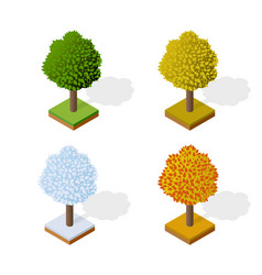 trees forest camping vector image