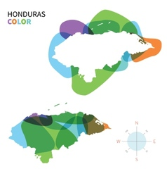 Abstract color map of Honduras vector image