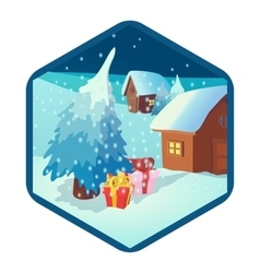 Christmas and New Year icon cartoon style vector image vector image