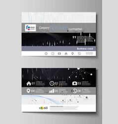 business card templates easy editable vector image