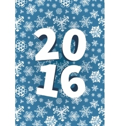 Happy New Year background with snowflakes vector image