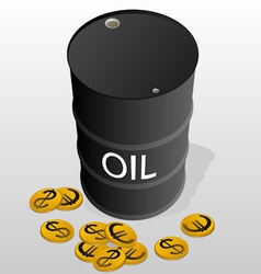 Sale of petroleum products vector image
