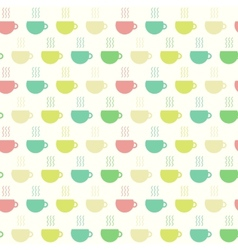 Tea time cups seamless pattern vector image
