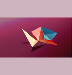 abstract background - geometric origami style vector image