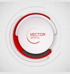 abstract white and red circle for banner design vector image