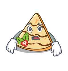 Afraid crepe mascot cartoon style vector